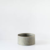 Round Corrugated Metal Tin Planter