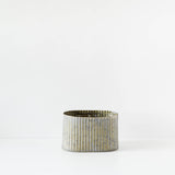 Oval Corrugated Metal Tin Planter