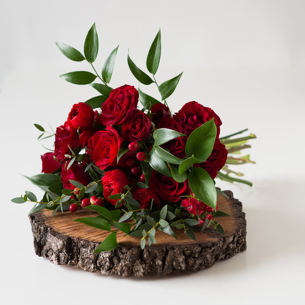 Prom Bouquet - Red – Green Meadows Florist