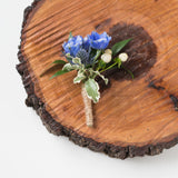Prom Boutonniere - Hint of Blue