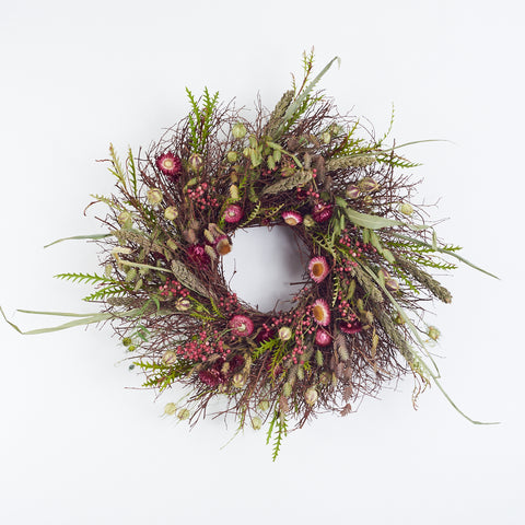 Strawflower Wreath