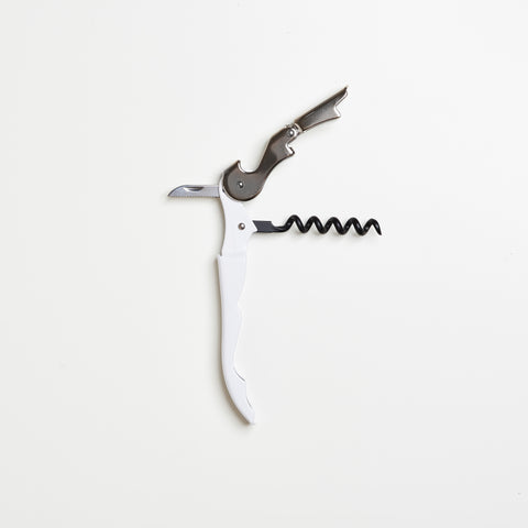 Truetap™ Double-Hinged Corkscrew - White