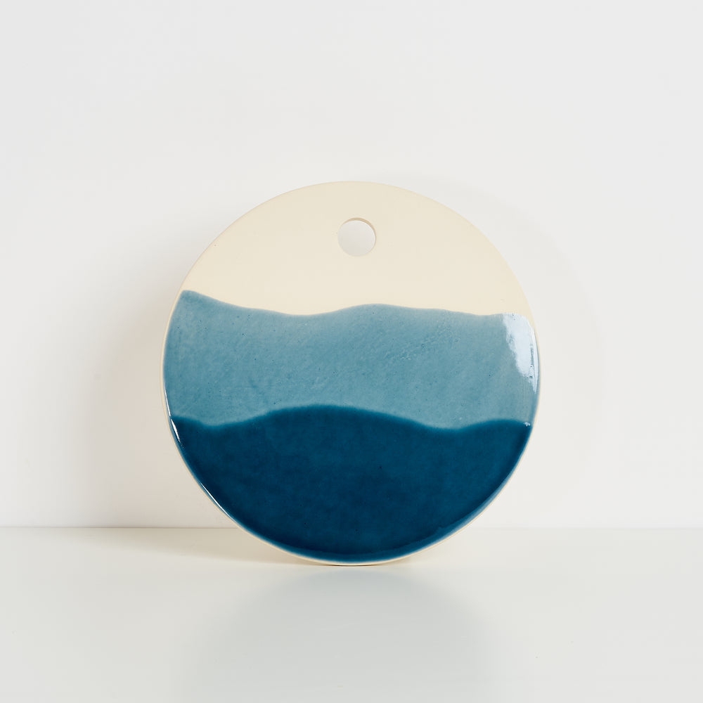 Ceramic Cheese Board - Tide Blue Wash