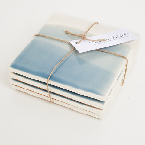 Ceramic Coaster - Tide Blue Wash
