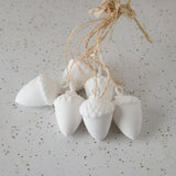 Porcelain Acorn Ornaments