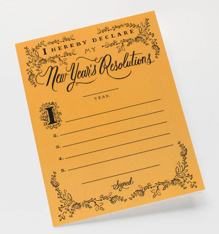 New Years Resolution Constitution Card