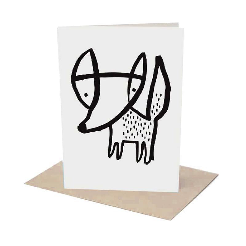 FOX GREETING CARD WITH ENVELOPE