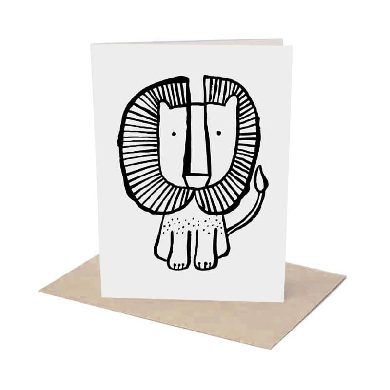 LION GREETING CARD WITH ENVELOPE