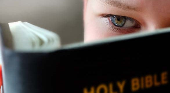 Boy Reading the Bible