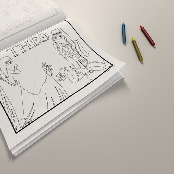 Coloring Pages Theo Presents