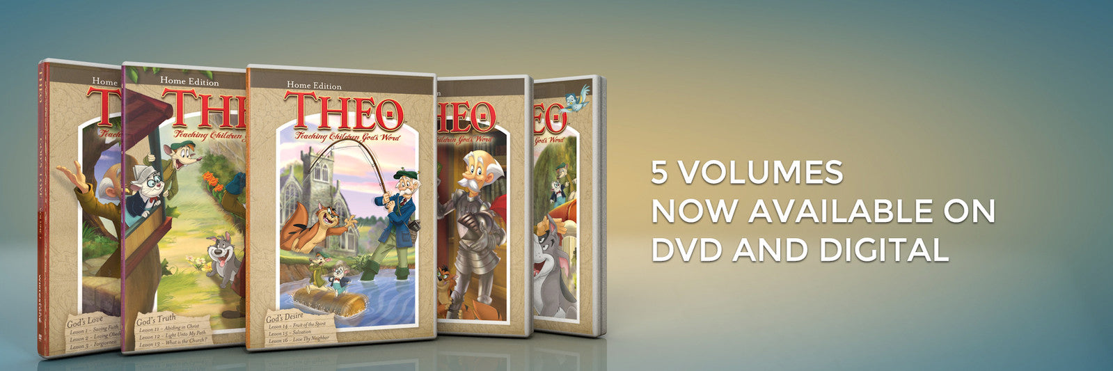 Five Volumes Available  BannerThe Good News Video Banner