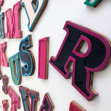 Load image into Gallery viewer, E - Medium Factory Shop Letter Ply Wood & Perspex Pink