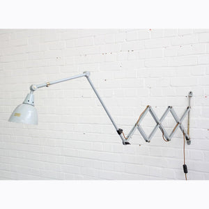1960s Large Wall Mounted Scissor Lamp By Midgard