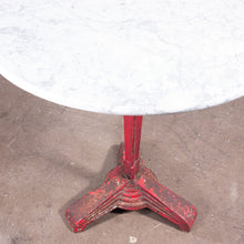 Load image into Gallery viewer, 1930s Cast Metal French Bistro Dining / Side Table With Marble Top #1