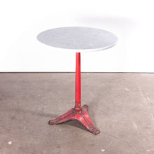 Load image into Gallery viewer, 1930s Cast Metal French Bistro Dining / Side Table With Marble Top #2