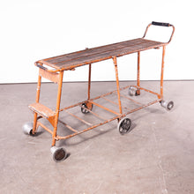 Load image into Gallery viewer, 1960s Nursery Industrial Trolley