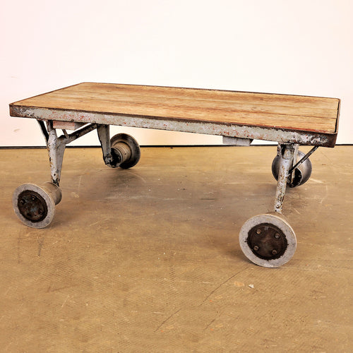 1960s Russian Nursery Low Industrial Trolley