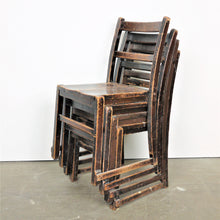 Load image into Gallery viewer, 1920s Elm Ebonised Dining Chairs - Set Of Four