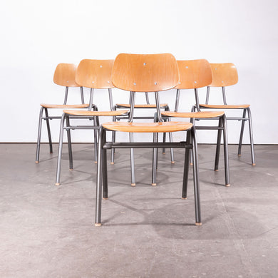 1960's Dining School/University Chairs - Set Of Six
