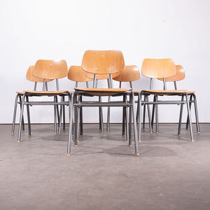 1960s Dining School/University Chairs - Set Of Eight