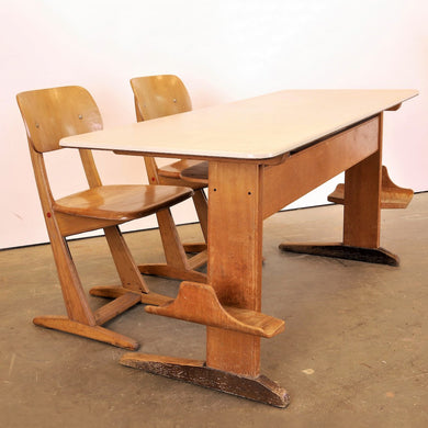 1960's Casala Children's Desk And Chair Set
