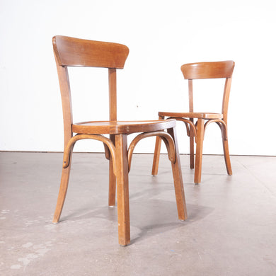 1950's Bentwood Bistro Dining Chairs - Pair