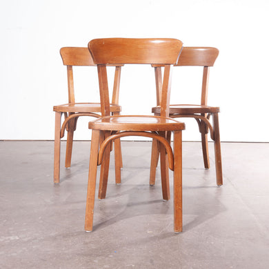 1950's Bentwood Bistro Dining Chairs - Set Of Three