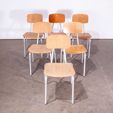 1970's Dining Chairs With Rare Aluminium Frames -  Set Of Six