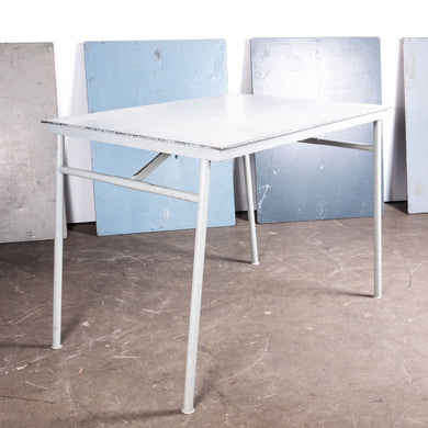 1960's German Military Industrial Small Dining/Side/Occasional Folding Tables