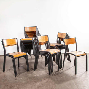 1950's French Mullca Dining Chair - Set Of Twenty-Four