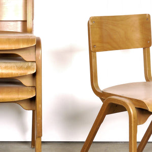 1950s Rare James Leonard Esavian ESA Dining Chairs With A Laminated Beech Frame - Set Of Eight