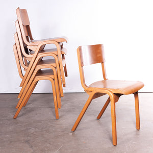 1950s Rare James Leonard Esavian ESA Dining Chairs With A Laminated Beech Frame - Set Of Six