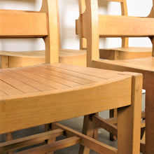 Load image into Gallery viewer, 1960s Dining Church/Chapel Chairs In Beech Wood - Set Of Eight