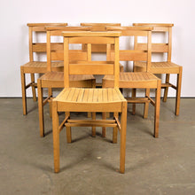 Load image into Gallery viewer, 1960s Dining Church/Chapel Chairs In Beech Wood - Set Of Six