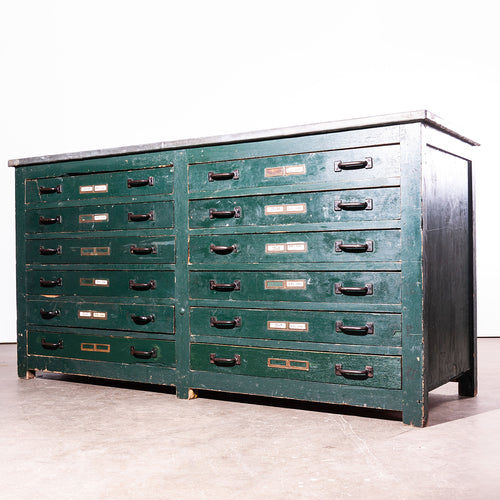 1940s English Engineers Industrial Cabinet With Zinc Top