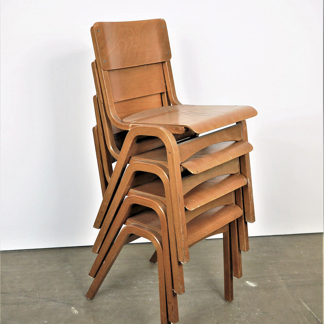 1950s Tecta Beech Dining Chairs In Beech Wood - Set Of Six