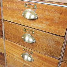 Load image into Gallery viewer, 1950s Brass Frame Haberdashery Cabinet / Chest Of Drawers / Storage Cabinet