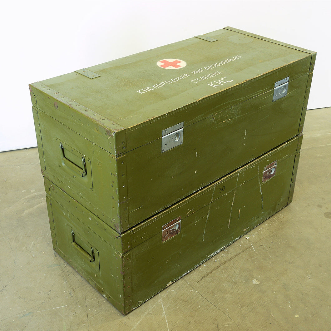1960s Russian Military Industrial First Aid Boxes