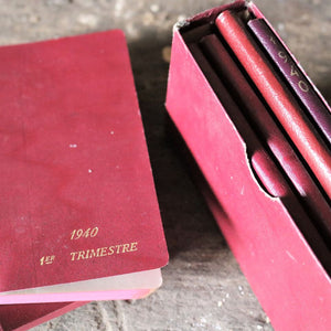 1940s Quarterly Diary of International Medicine - Four Notebooks