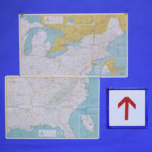 Load image into Gallery viewer, 1964 Vintage Maps - Eastern USA