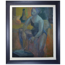 Load image into Gallery viewer, 1965 Oil Painting, 'French Ballet Dancer'