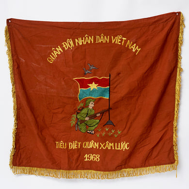 1968 Embroidered Vintage Vietnam Banner