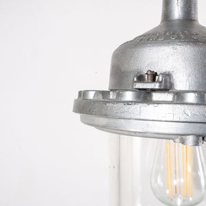 1960s Industrial Explosion Proof Ceiling Pendant Lamps/Lights - With Glass Domes - Model 2