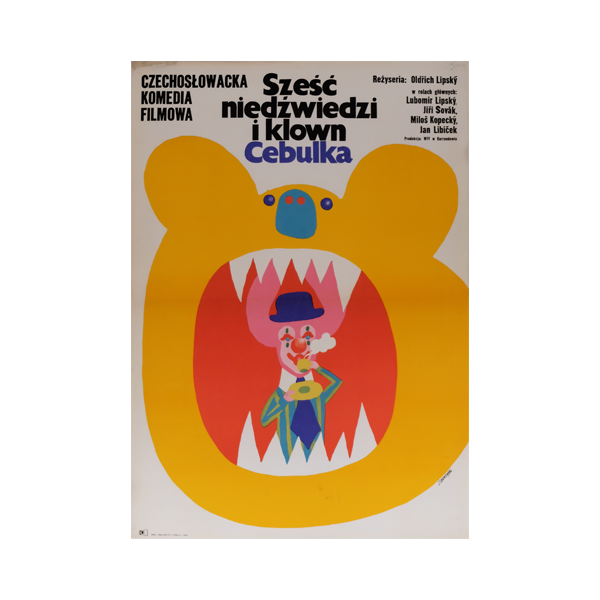 Film Poster 'Six Bears and a Clown' | Poland | 1973