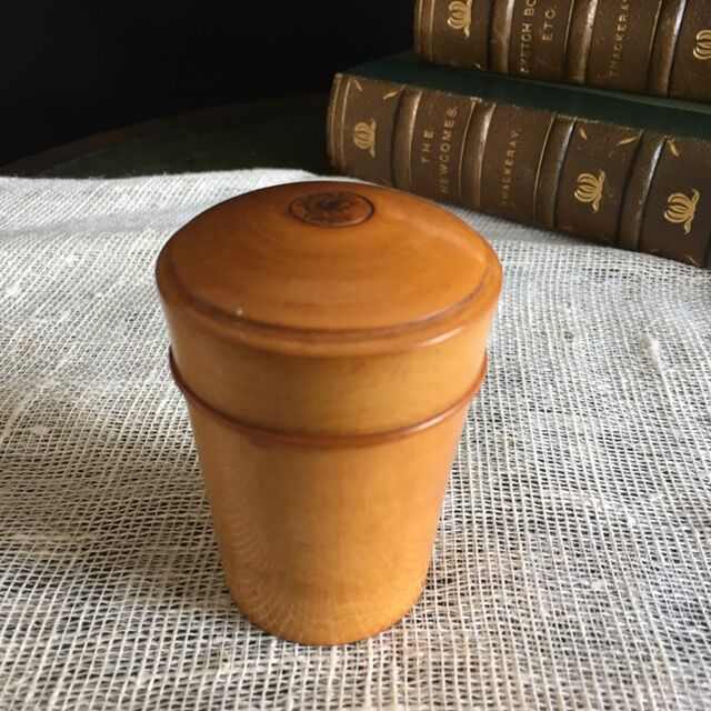 19th Century Vintage Wooden Apothecary Container