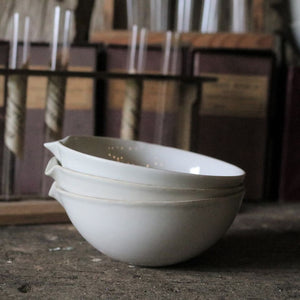 19th Century White Porcelain Science Laboratory Evaporating Bowls