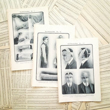 Load image into Gallery viewer, Vintage Medical Pages - Bandaging