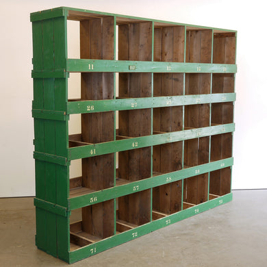Very Large Victorian Pigeon Hole Unit/Storage/Shelving Unit - 5 Bay