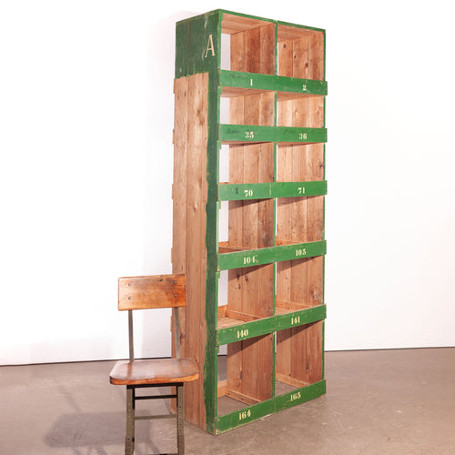 Tall Victorian Pigeon Hole Unit/Storage/Shelving Unit - 2 Bay