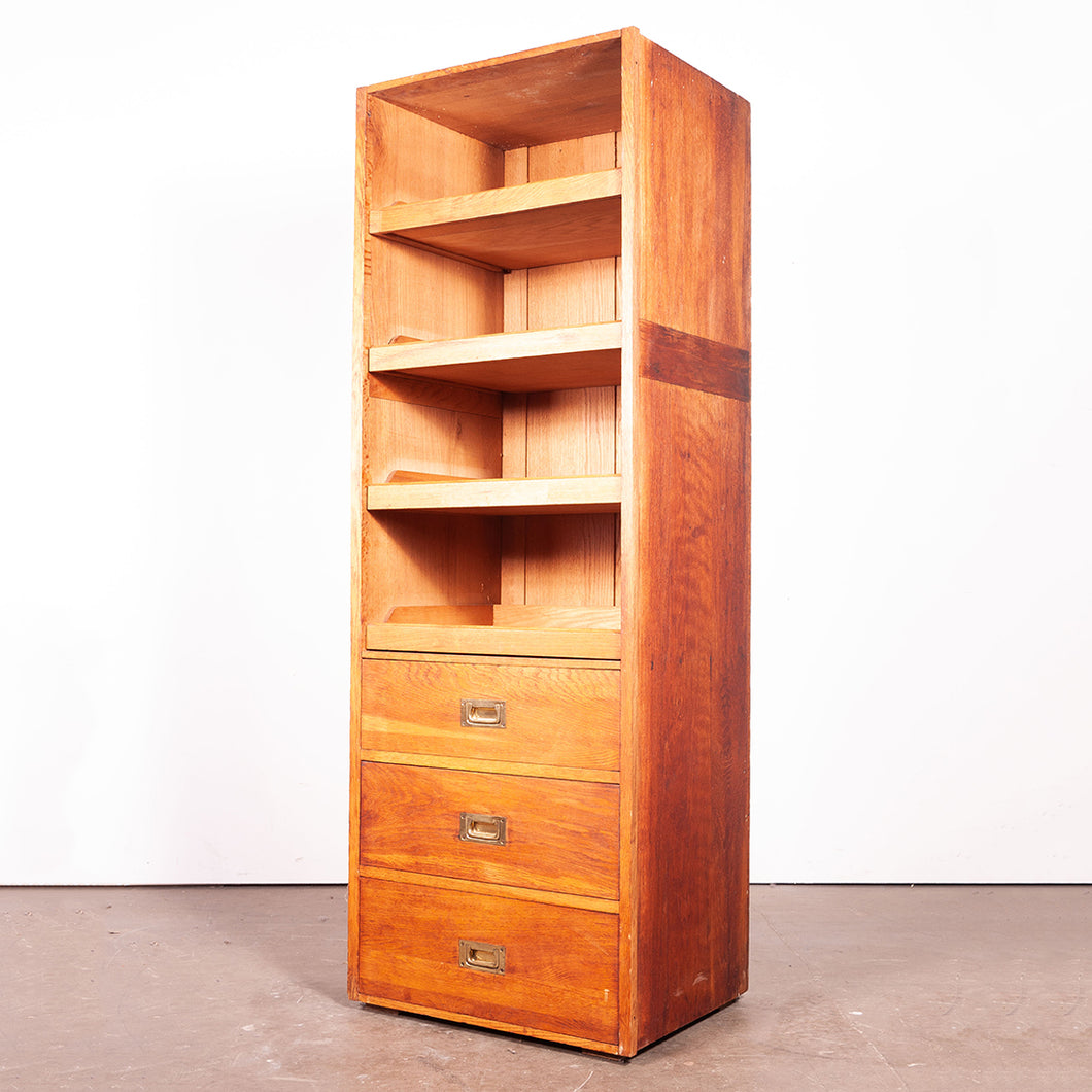 1950s Tall Haberdashery Unit/Chest Of Drawers / Wardrobe